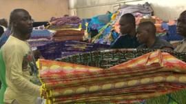 fabric factory workers