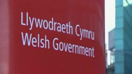 Welsh government sign
