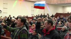 Pro-Russian protestors storm regional government building in Donetsk