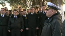 The Acting Commander of the Ukrainian Navy, Rear Admiral Sergie Gaiduk
