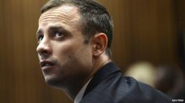 Oscar Pistorius in the courtroom