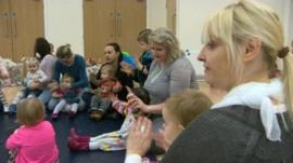 A playgroup in Wrexham with Polish families