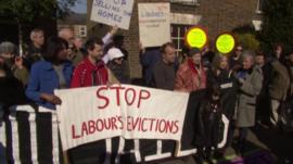 Protest in Lambeth