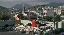 Rubbish on a street in Rio