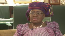 Nigeria's finance minister Ngozi Okonjo-Iweala