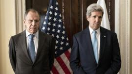 Sergei Lavrov and John Kerry