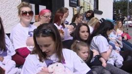 Rugeley breastfeeding demo