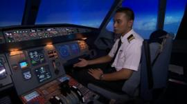Inside cockpit simulator