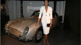 Naomi Harris at the Bond in Motion exhibition