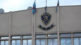 Police station in Kinshasa
