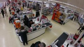 Sainsburys checkouts