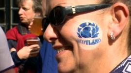 A Scotland rugby fan