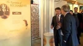 Matthew Barzun visiting the exhibition