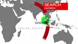 Graphic showing plane search corridors