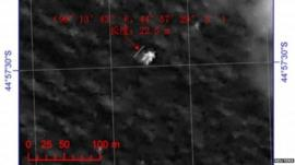 Image of latest possible debris taken by the Gaofen-1 satellite, 22 March
