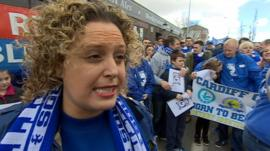 Cardiff City supporter