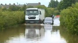 Croston during the flooding