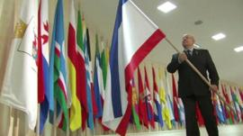Crimean flag added at Federation Council in Moscow