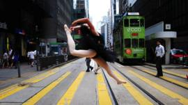 Ballet dancer in Hong Kong