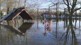 flooded area of Wraysbury in February