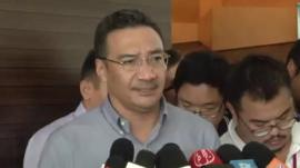 Acting Malaysian Transport Minister Hishammuddin Hussein