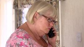 Anita White on the phone