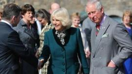 The Prince of Wales and the Duchess of Cornwall were given a tour of the Enniskillen Castle Museums