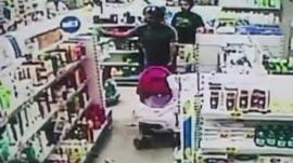 Shoppers inside store when quake hits
