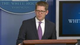 Jay Carney at the White House 3 April 2014