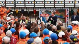 PM David Cameron visits Dawlish as train line reopens