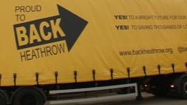 Van showing support for Heathrow