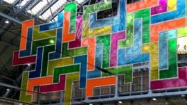Chromolocomotion at St Pancras International