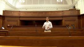 Andrew Plant inside court