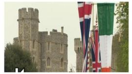 The Irish president is visiting Windsor Castle during the history-making State visit