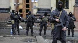 Ukrainian special forces in Kharkiv