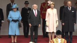 The Queen, Michael D Higgins, Sabina and the Duke of Edinburgh