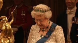 Queen speaking at Windsor Castle