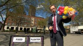 Adam Fleming with Daily Politics mood box