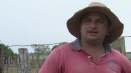 Colombian cattleman Daniel Cuadra