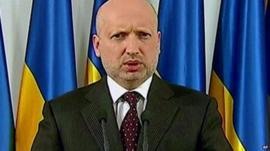 Acting President Oleksandr Turchynov