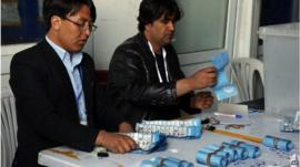 Ballot papers counted in Afghanistan election