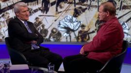 Jeremy Paxman and Michael Morpurgo