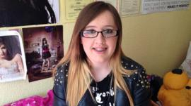 16-year-old Rebecca Parkin has been physically and verbally bullied.