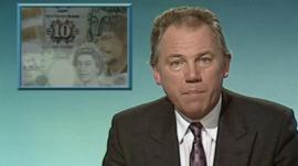 Peter Sissons reports the news that Britain is to join the ERM