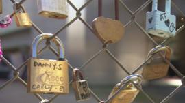 Love locks in east London