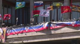 Occupied building in Donetsk