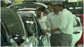 India car workers