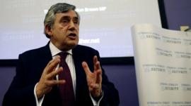 Gordon Brown at Glasgow University