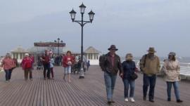 Tourists on Cromer Pier