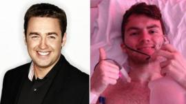 Jason Manford (left) and Stephen Sutton (right)